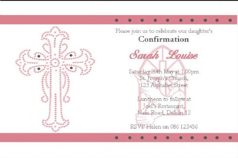 Personalised Confirmation Invitations Daughter Design 2